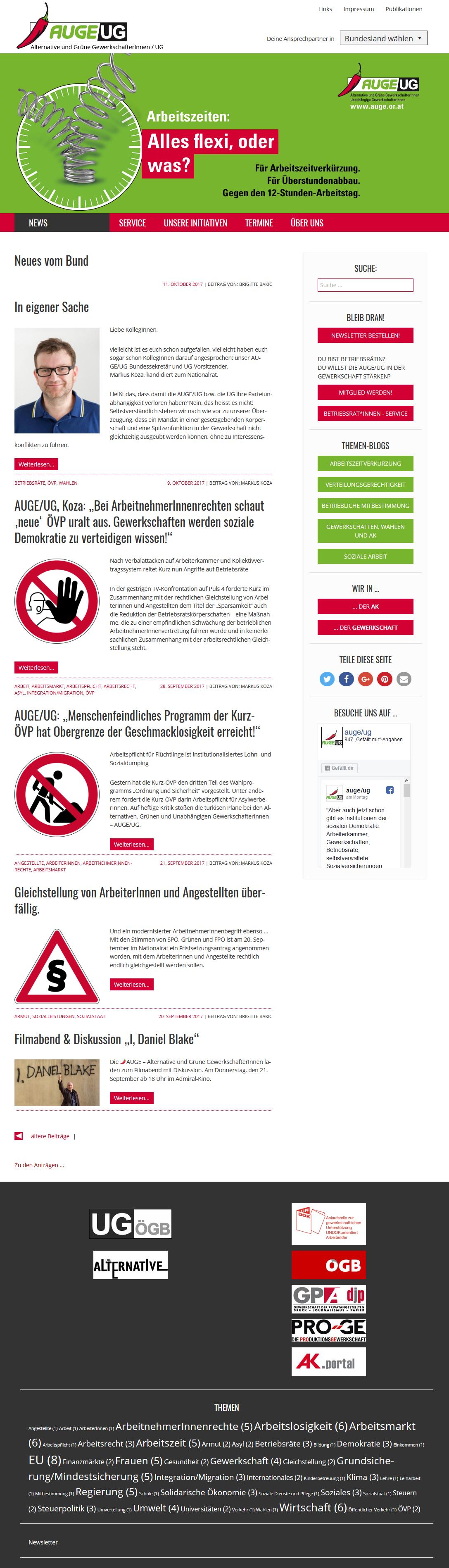 AUGE – Alternative und Grüne GewerkschafterInnen