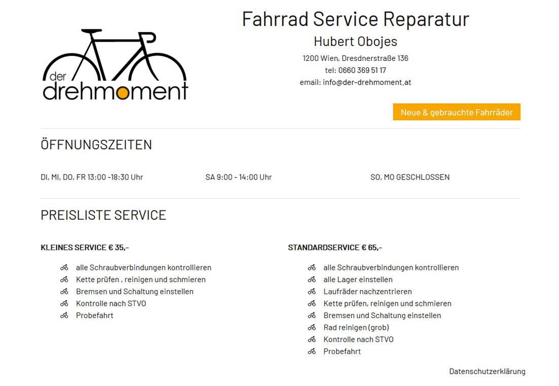 der drehmoment - Fahrrad Service Reparatur